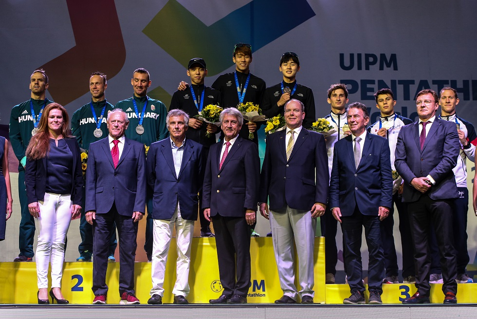 Men's team podium at the UIPM 2019 Pentathlon World Championships