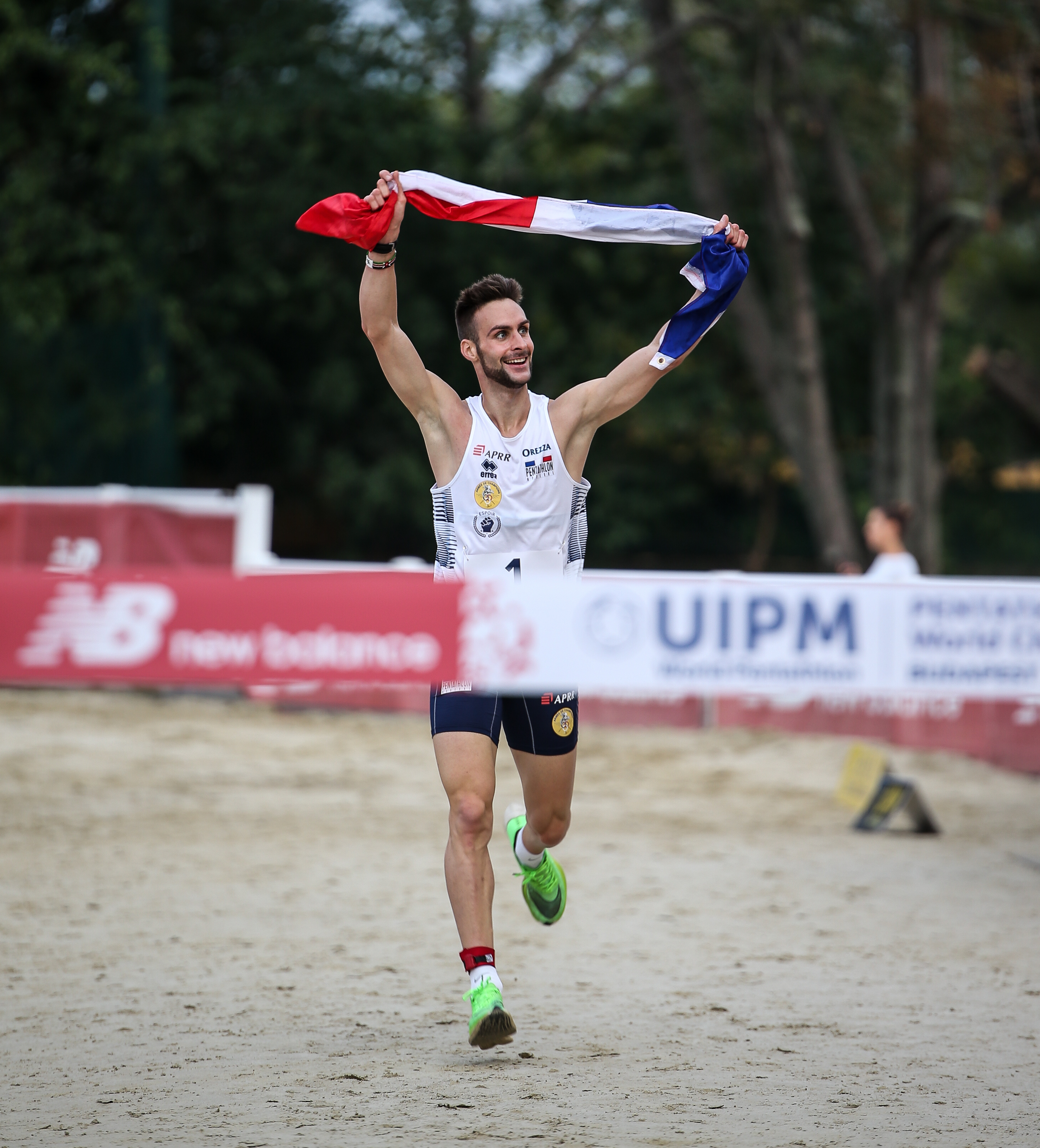 Valentin Belaud of France wins gold at the UIPM 2019 Pentathlon World Championships in Budapest